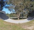 Complete view of keith hunt park half pipe