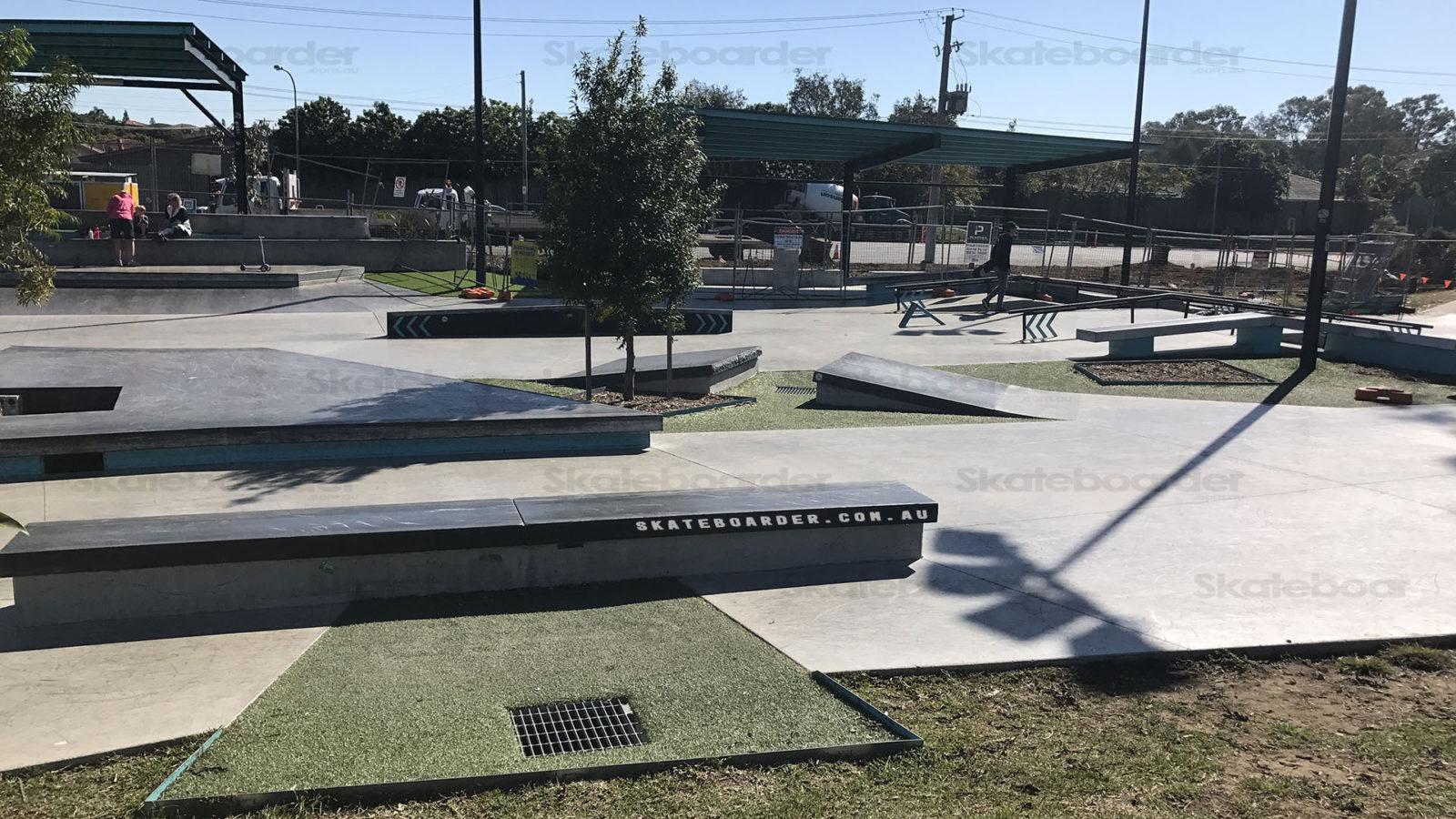 Rails and ledges at Bracken Ridge Skate Plaza