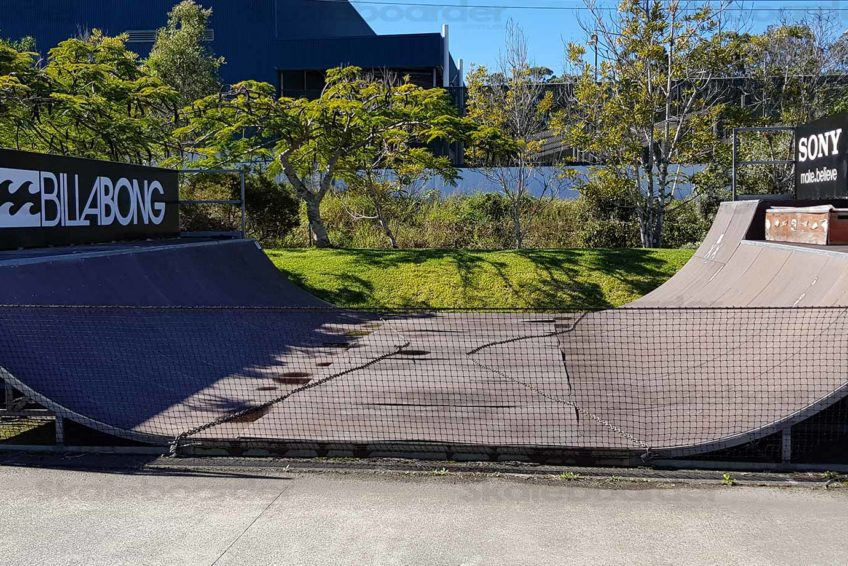 Side view of the Billabong Mini Ramp