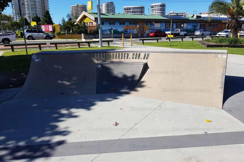 Mini quarter at Coolangatta Skatepark
