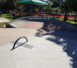 Bank and rainbow rail at coolangatta skatepark