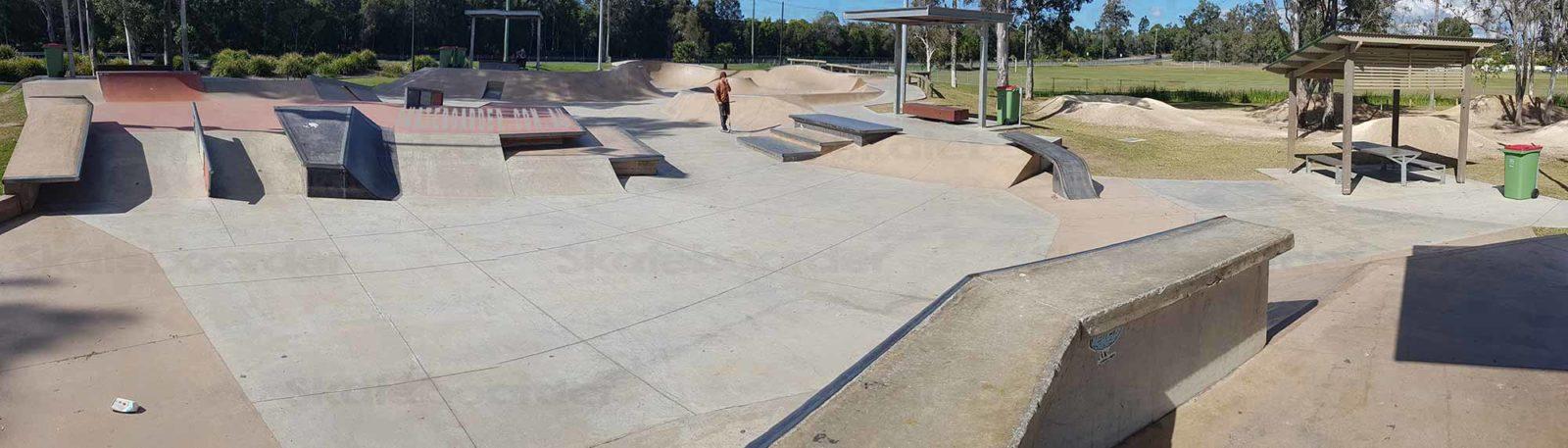 Looking over Ormeau Skatepark