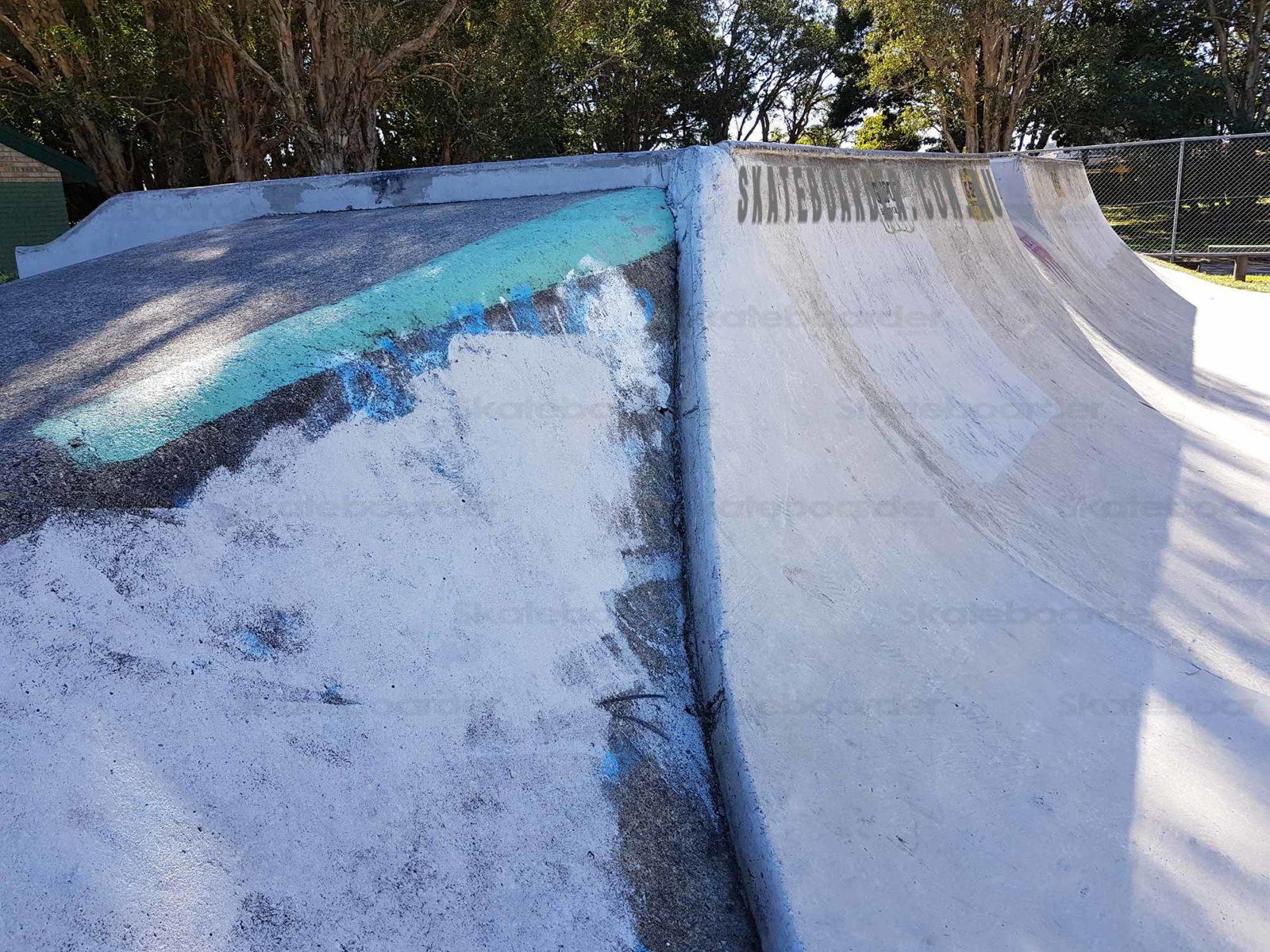 Concrete coping closeup at Palm Beach Halfpipe