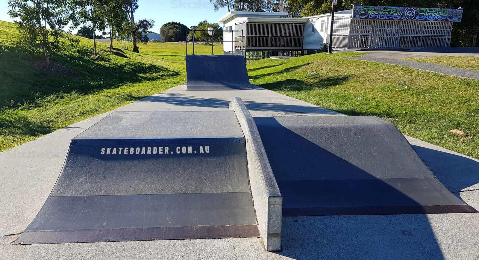 Prefab obstacles at Runaway Bay Skatepark