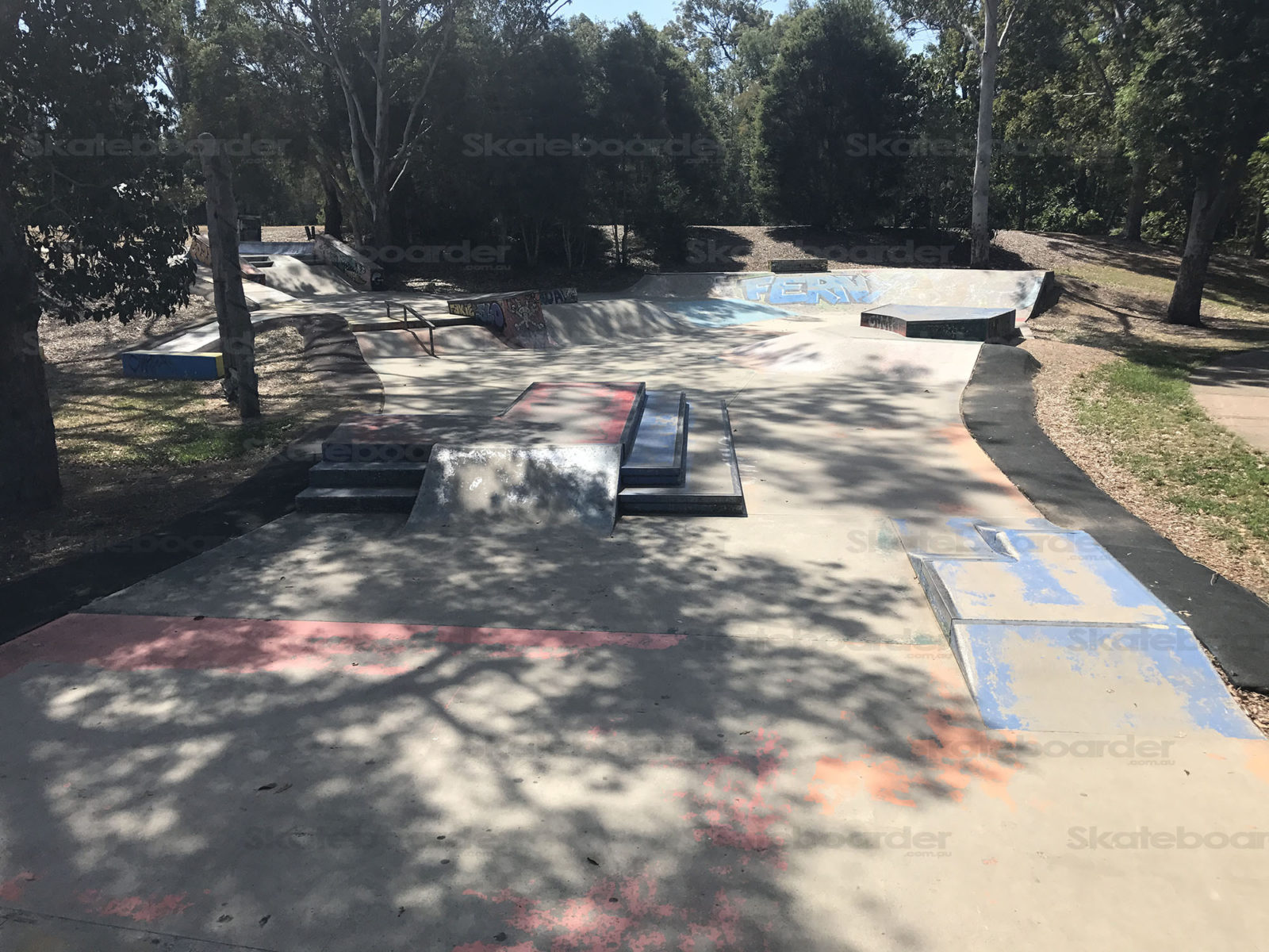 Looking over Ferny Grove Skatepark