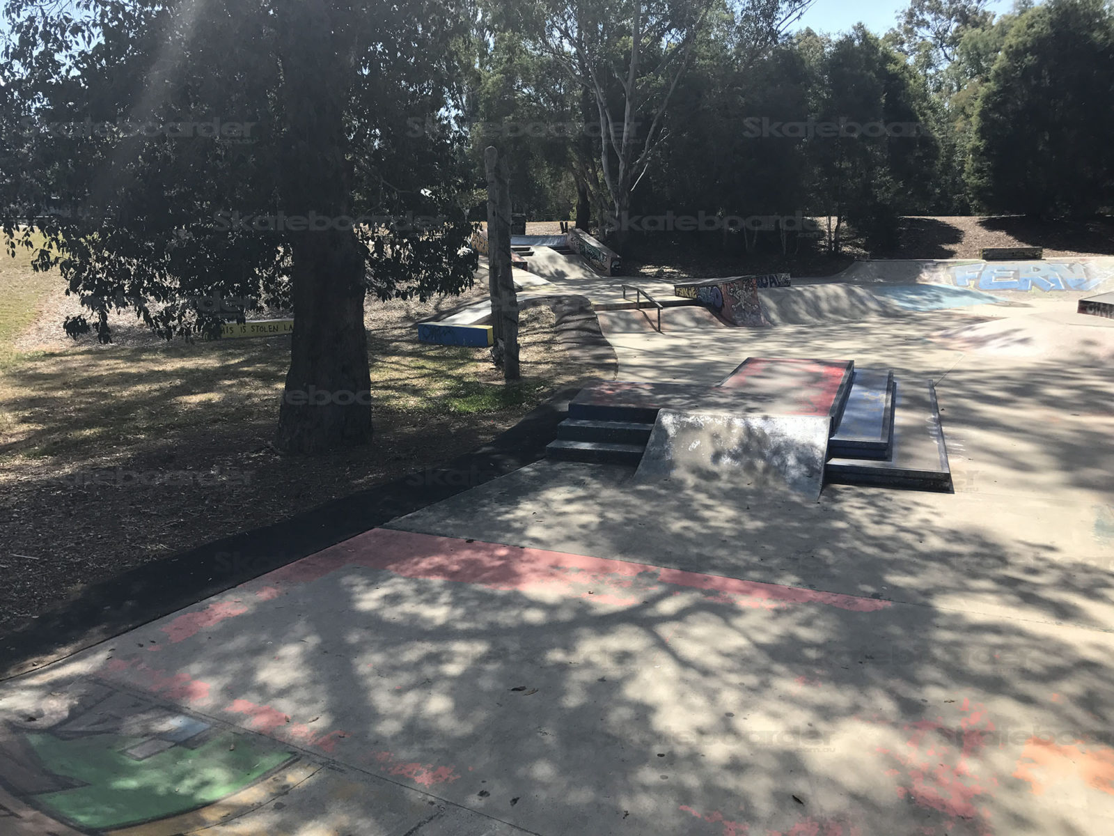 Shade covering Ferny Grove Skatepark