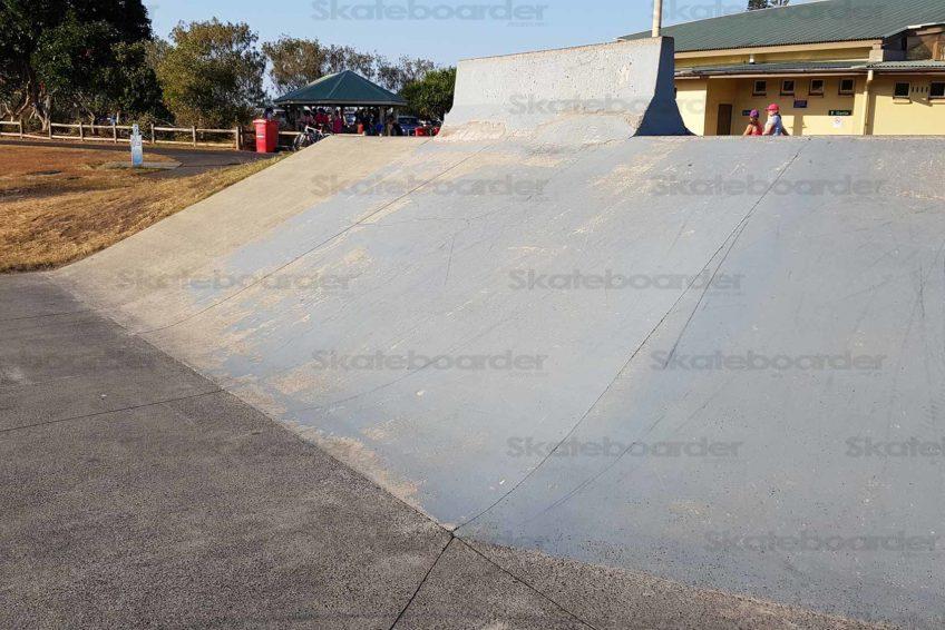 Skate Bank and Parking Barrier at Ballina