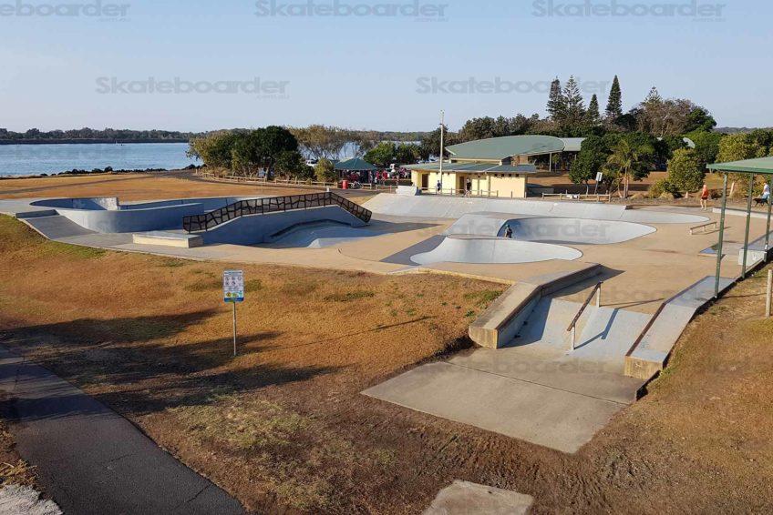 Ballina Skatepark Side View