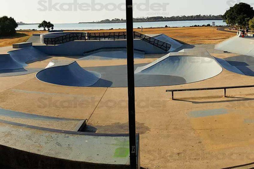 Looking over Ballina Skatepark from Shelter