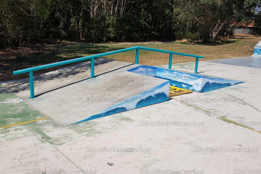Down Rail and gap at Suffolk Park Skate Park
