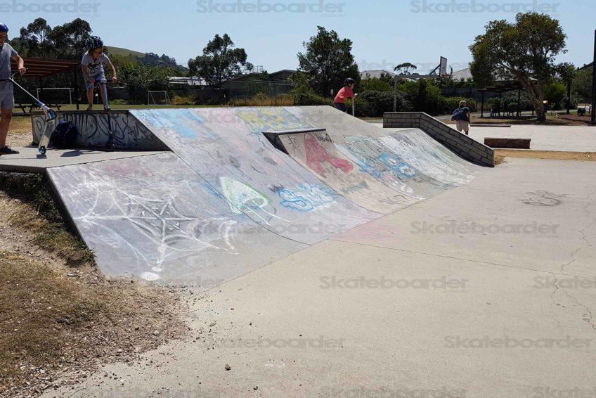 The big skate bank at Suffolk Park