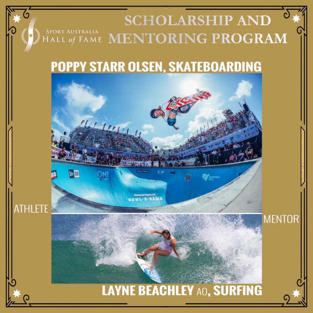 Poppy Olsen, Layne Beachley