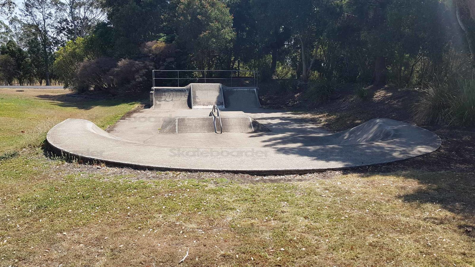 Looking over Caniaba Skatepark