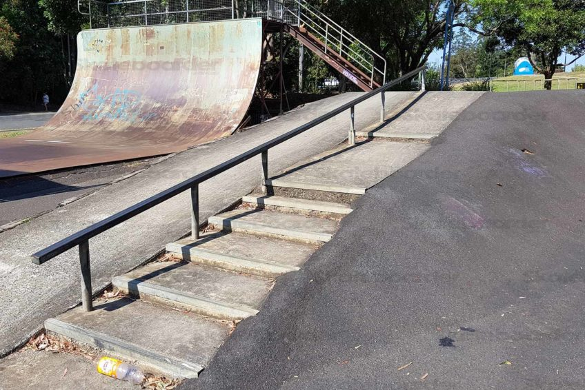Lismore Skate Park down rail