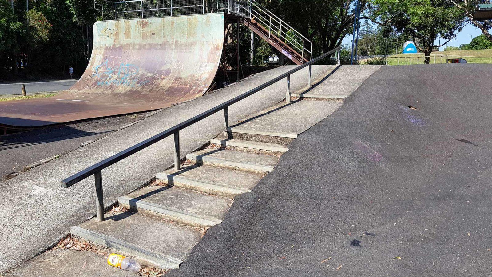 Lismore Skatepark down rail