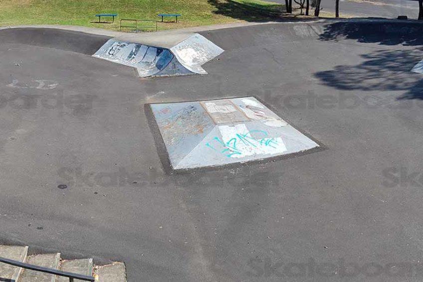 View of Lismore skate park from Platform