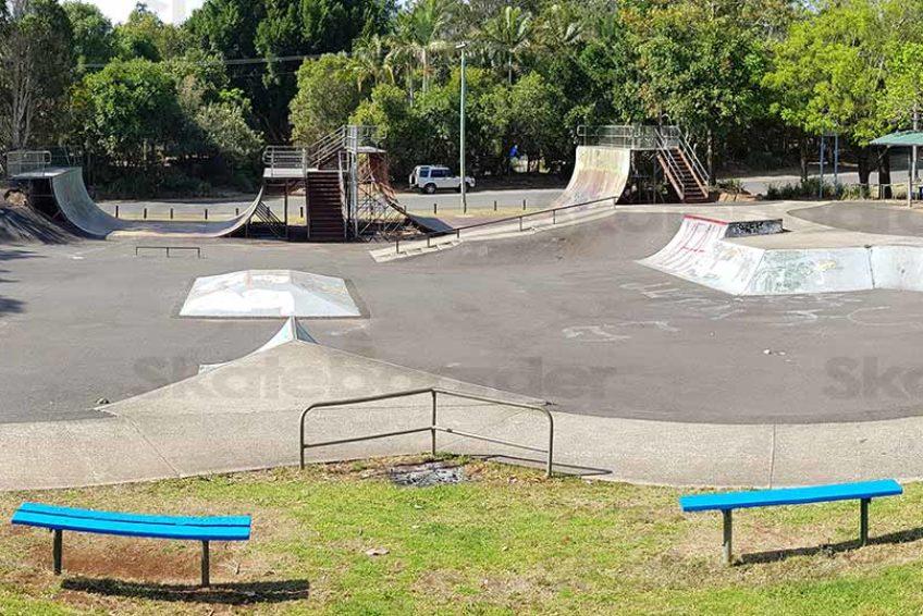 Looking over Lismore Skatepark
