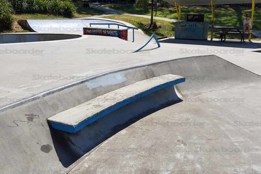 Nimbin Skate Park Chair Ledge