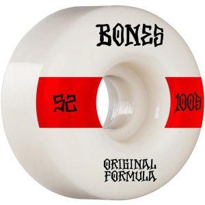 Bones 100's OG Formula V4 Skateboard Wheels Profile