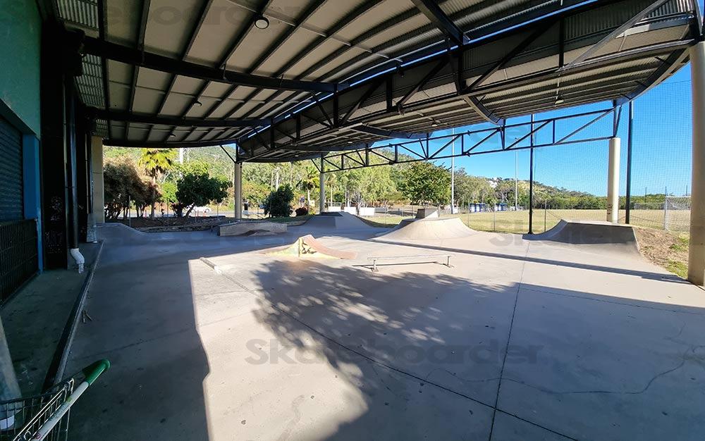 Corner view of Airlie Skatepark
