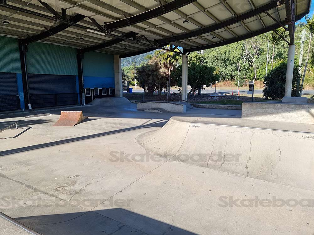 Looking out from Halfpipe platform at Whitsunday Skate Space