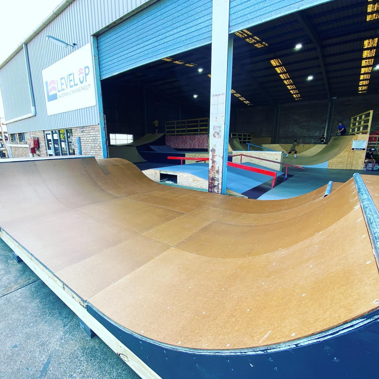 Mini Ramp outside Level Up Skatepark