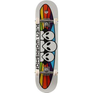 Alien Workshop Spectrum White Complete Skateboard Bottom