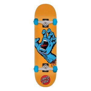 Santa Cruz Screaming Hand Mini 7.8 Skateboard Orange Bottom